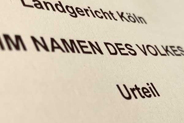 Urteil Landgericht Köln