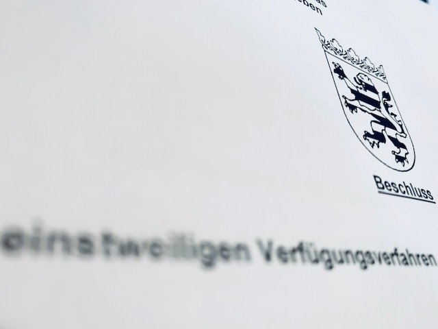 Beschluss einstweilige Verfügung LG Frankfurt